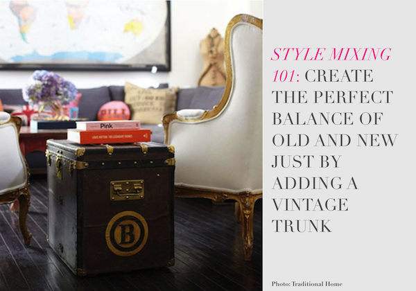 How to decorate with Vintage Designer Trunks