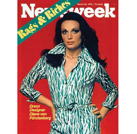 Diane von Furstenberg on the Cover of Newsweek 1976
