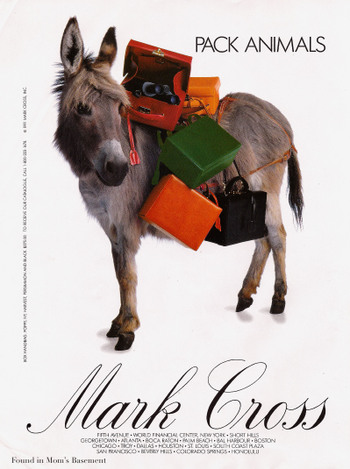 1991 Mark Cross Ad