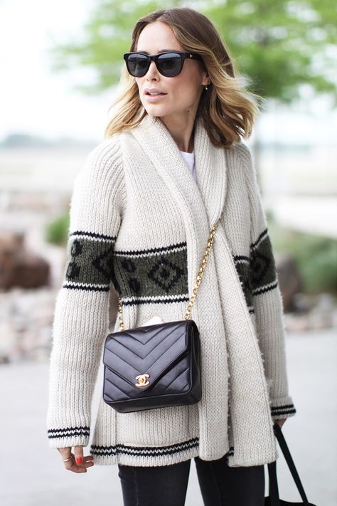 Anine Bing with her Vintage Chanel Flap Bag from Rice and Beans Vintage