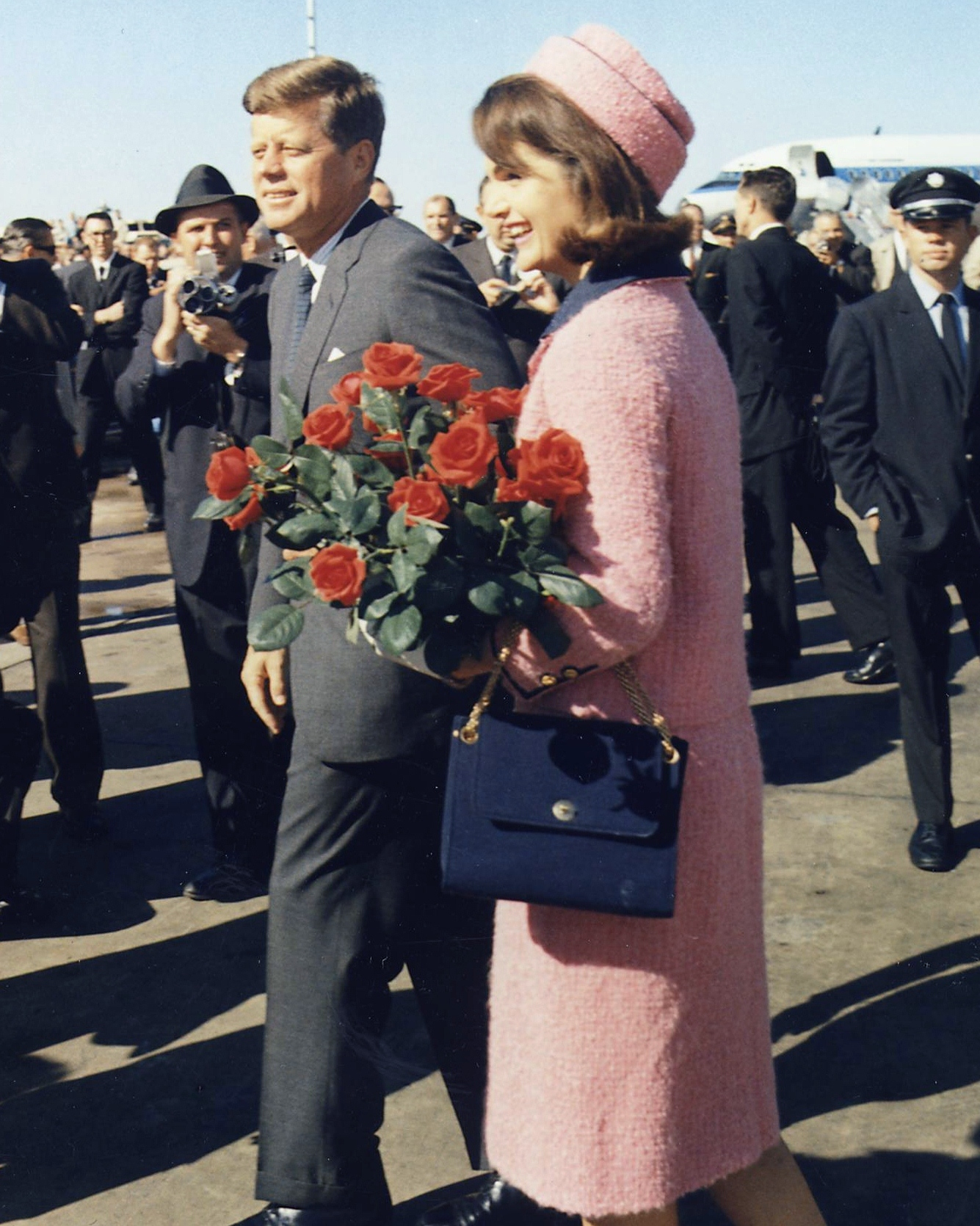 Jackie Kennedy with her Vintage Chanel Jersey Flap Bag