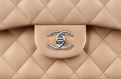 Chanel beige lambskin leather.  Image courtesy of purseblog.com.