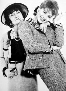 Coco Chanel and model.