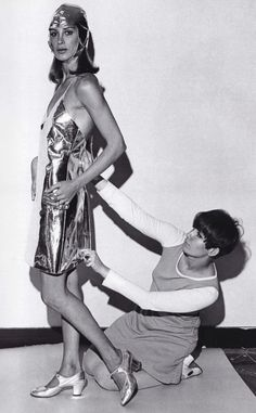 Betsey Johnson Fitting a Model in the 60's