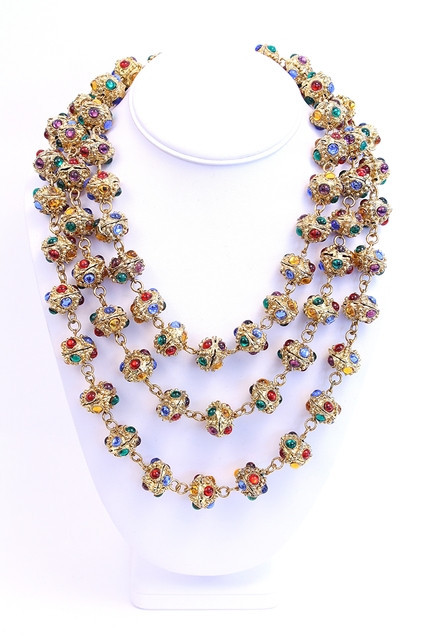 Chanel Gripoix Byzantine necklace from the Rice and Beans archive.