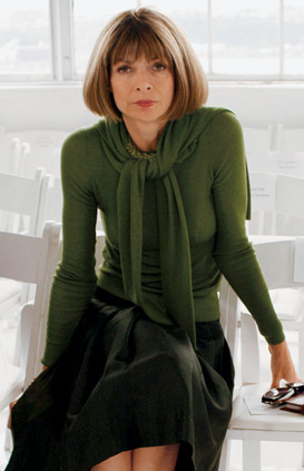 Portrait of Anna Wintour for a The September Issue promotion.