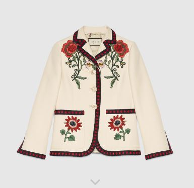 Gucci embroidered cotton jacket.  Image courtesy of Gucci.com.