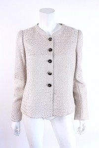 Armani silver velvet jacket, for sale at Rice and Beans Vintage.