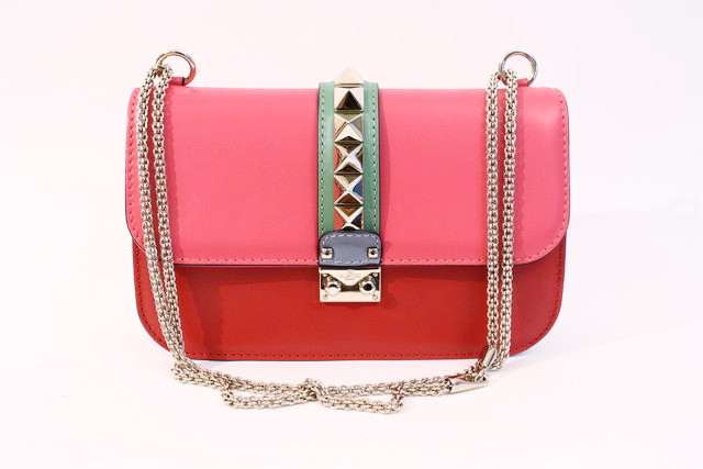 Valentino Rockstud flap bag for sale at Rice and Beans Vintage.