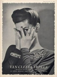 Vintage Van Cleef & Arpels advertisement.