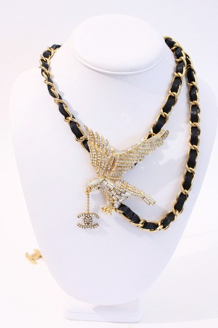Vintage Chanel eagle necklace (or belt), for sale at Rice and Beans Vintage.