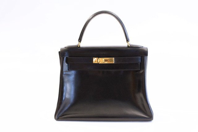 Vintage Hermes Kelly bag, for sale at Rice and Beans Vintage.